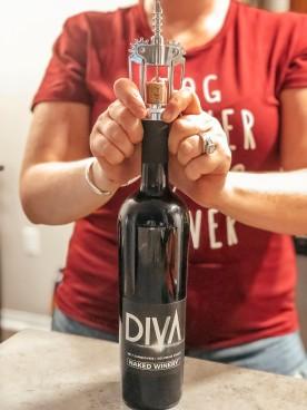Opening wine 3