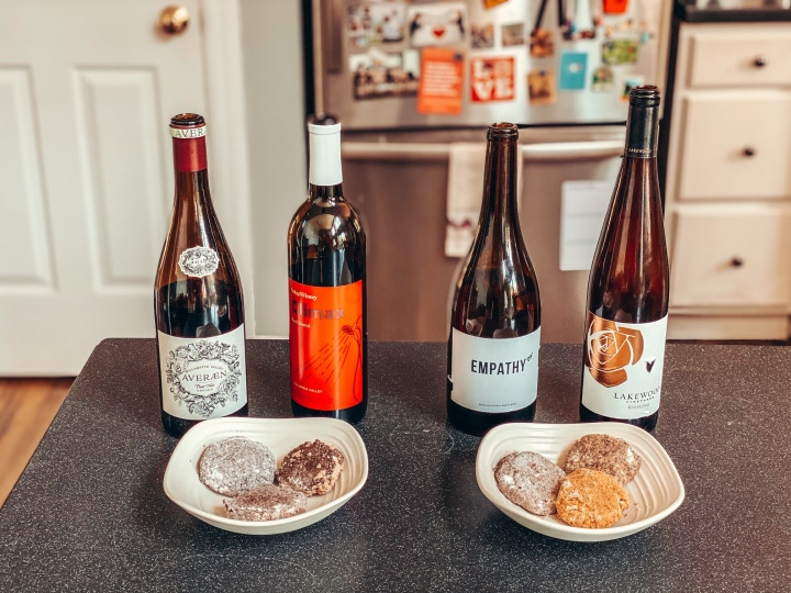 Wine and Grandmarheas cookie pairing!!